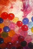 Paint Swirls with Glass Beads Royalty Free Stock Photos