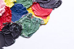 Paint texture. Abstract acrylic of painted background Stock Photos