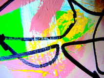 Paint Texture Abstract Shapes Stock Photography