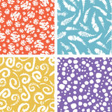 Paint texture elements colorful seamless pattern Royalty Free Stock Images