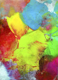Paint textures impasto colorful. Paint textures colorful impasto hand painted on canvas Royalty Free Stock Photography