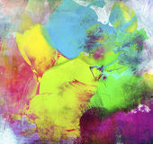 Paint textures impasto colorful. Paint textures colorful impasto hand painted on canvas Stock Images