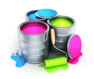 Paint, three colour Stock Photos