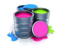 Paint, three colour Royalty Free Stock Image