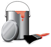 Paint tin Royalty Free Stock Image