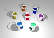 Paint Tins Royalty Free Stock Image