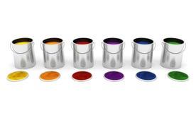 Paint tins Stock Photography
