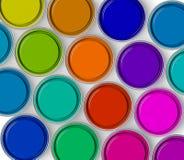 Paint tins Stock Photo