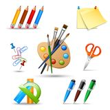 Paint tools set Stock Image