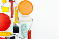 Paint tools on white background Stock Photography