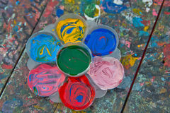 Paint tray. Royalty Free Stock Photography