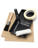 Paint tray Stock Images