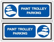 Paint Trolley Parking Symbol Sign, Vector Illustration, Isolate On White Background Label. EPS10 royalty free illustration