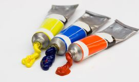 Paint from tube Stock Image