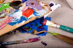 Paint tubes Royalty Free Stock Photography