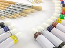 Paint tubes Stock Images