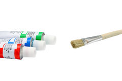 Paint tubes Stock Photography