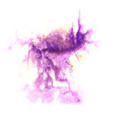 Paint violet splash ink stain watercolour blob Royalty Free Stock Image