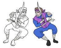 Paint warrior Royalty Free Stock Photos
