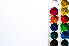 Paint watercolor on black Royalty Free Stock Photos