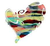 Paint watercolor heart, love image Stock Photo