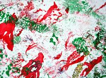 Paint watercolor red green hues, vivid background, painting abtract colors. Paint watercolor acrylic abstract background in vivid bright colors, red, green stock images