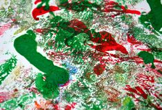 Paint watercolor red pink green spots, vivid background, painting abtract colors. Paint watercolor acrylic abstract background in vivid bright colors, red, green stock photos