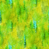 Paint watercolor yellow green seamless water black color texture with spots and streaks art Stock Image
