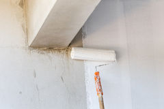 Paint White color for new house Royalty Free Stock Photo