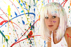 Paint Woman Stock Image