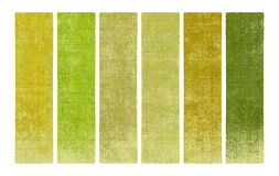 Paint and wood textured banner set Stock Images