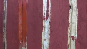 Paint wooden house wall with paintbrush stock video