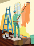 Paint Worker Stock Photography
