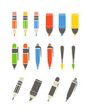 Paint and writing tools collection Royalty Free Stock Image