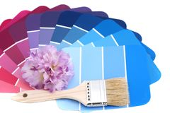 Paint your house winter colors Stock Images