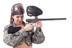 paintball девушки Стоковые Изображения