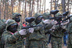 paintball игры начала Стоковые Изображения