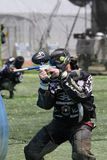 Paintball 19. A picture of a Paintball player at the 2010 Huntington Beach NPPL Paintball Tournament Stock Photo