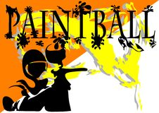 Paintball. abstract background Stock Image