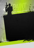 Paintball or airsoft background Stock Image