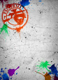 Paintball background. Abstract grunge paintball poster or flyer background with space Royalty Free Stock Images