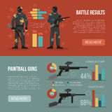 Paintball Banners Set Stock Photography