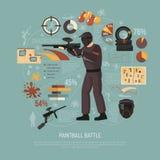 Paintball Battle Illustration Stock Photo