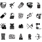 Paintball black icons collection Stock Images