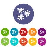 Paintball blob set icons Stock Photos