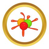 Paintball blob vector icon Royalty Free Stock Image