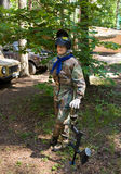 Paintball boy. Paintball games boy playing war Royalty Free Stock Photos