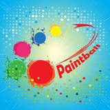 Paintball circle.Abstract square banner Royalty Free Stock Photos