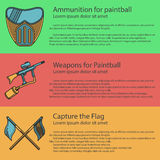 Paintball colored illustration Stock Photos