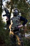 Paintball commando Stock Photography